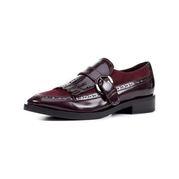 Geox - Donna Brogue - Mocassini in pelle bimateriale - bordeaux