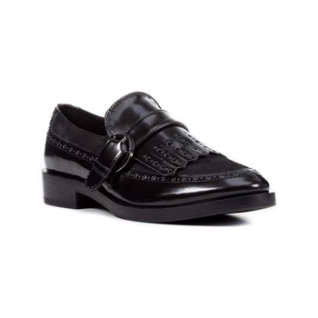 Geox - Donna Brogue - Mocassini in pelle bimateriale - nero