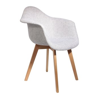 Home Deco Art - Lot de 2 fauteuils grosse maille - blanc