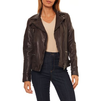 Oakwood - Video - Veste en cuir - marron