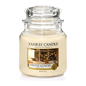 Yankee Candle - Merveille d'hiver - Geurkaars - medium jar - wit