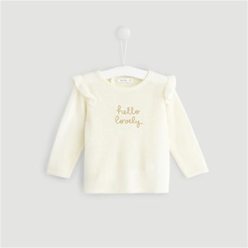 Bout'Chou - Pull 38% laine - beige