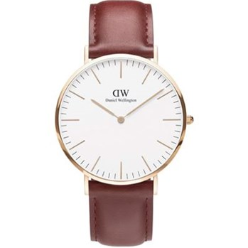 Daniel Wellington - Montre en cuir - rouge