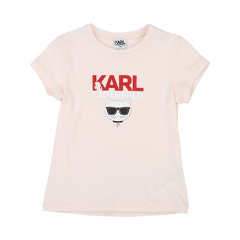 T-SHIRT MANCHES COURTES - ROSE Karl Lagerfeld
