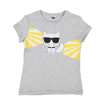 Karl Lagerfeld - T-shirt manches courtes - gris chine