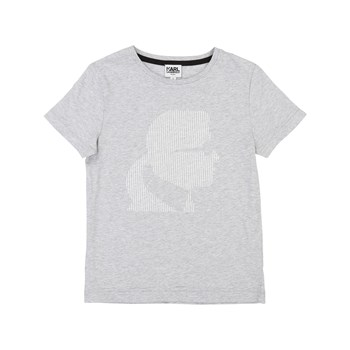 T-SHIRT MANCHES COURTES - GRIS CHINE Karl Lagerfeld