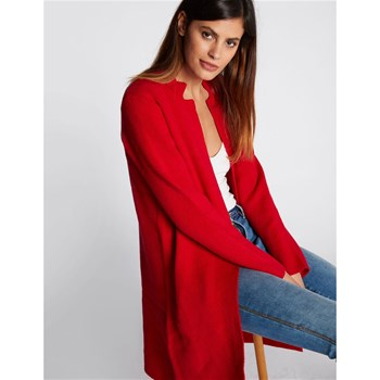 Morgan - Gilet long - rouge