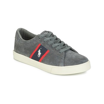 Ralph Lauren Kids - Geoff - Sneakers in pelle - carbone