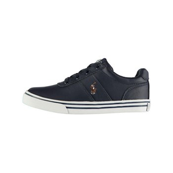 Ralph Lauren Kids - Hanford - Sneakers in pelle - blu marine