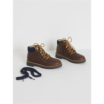 Cyrillus - Bottines montantes en cuir - marron