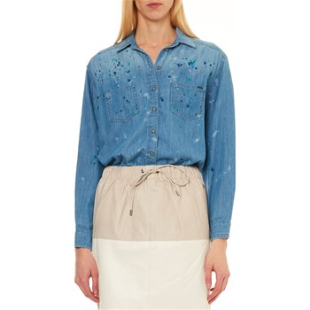 Pepe Jeans London - Prairy Painted - Camisa de manga larga - azul jean