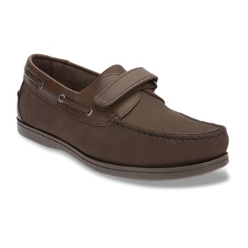 Scott Williams - Colwood - Chaussures bateau en cuir - marron