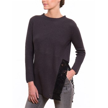LPB Woman - Pullover mit Wollanteil - anthrazit