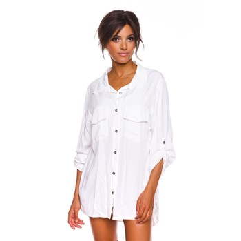 Romy - Strass - Chemise manches longues - blanc