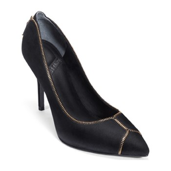 What For - Leren pumps - zwart