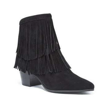 What For - Split - Boots en cuir - noir