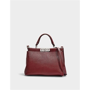 Hugo Boss - Veronika - Sac à main en cuir - rouge