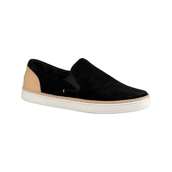 Ugg - Adley Perf - Slip-on en cuir - noir