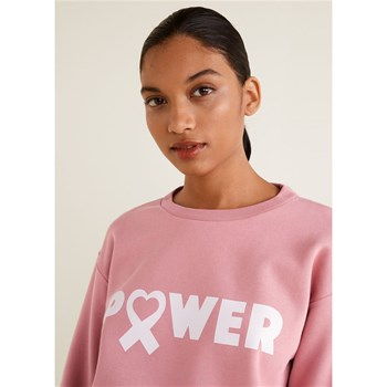 Mango - Sweat-shirt solidaire - rose