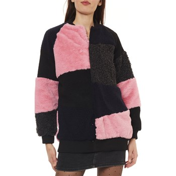 Noisy May - Ina - Manteau en fausse fourrure - rose