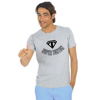 We are family - Super tonton - T-shirt manches courtes - gris chine