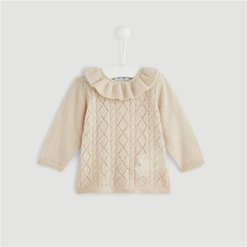 Bout'Chou - Pull 40% laine - beige