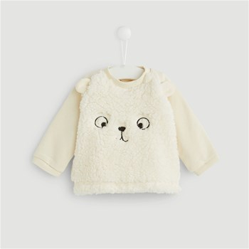 Bout'Chou - Pull brodé - beige