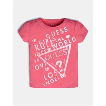 Guess Kids - T-shirt manches courtes - rose