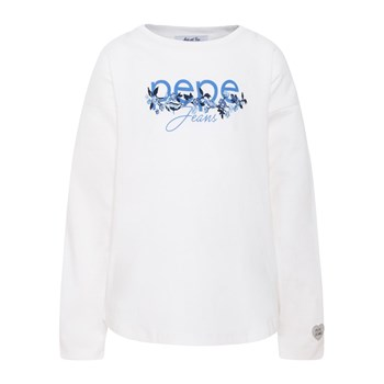 Pepe Jeans London - Megara - T-shirt manches longues - blanc