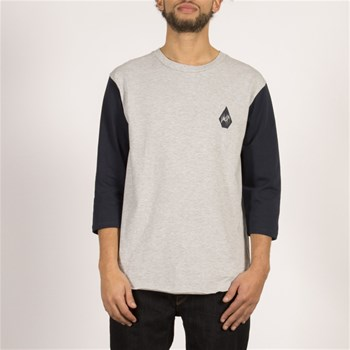 Volcom - Carving block hw 3/4 - T-shirt manches courtes - gris