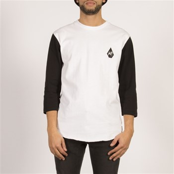 Volcom - Carving block hw 3/4 - T-shirt manches courtes - blanc
