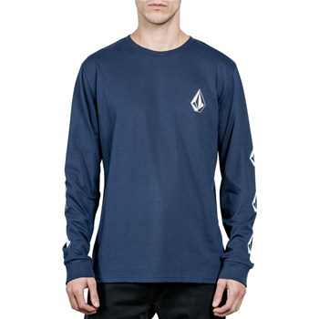 Volcom - Deadly stone bsc ls - T-shirt manches longues - bleu
