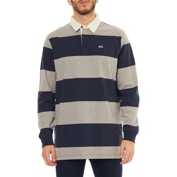 Tommy Jeans - Polo manches longues - bleu