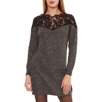 Only - Robe pull - gris foncé