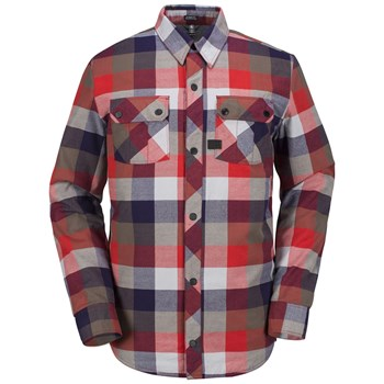 Volcom - Simons ins flannel - Chemise manches longues - rouge