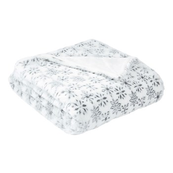 Ifilhome - Flocon - Plaid - blanc