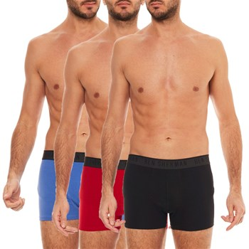 Ben Sherman - Anton - Lot de 3 boxers - rouge