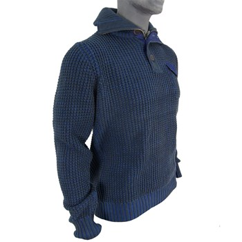 Petrol Industries - Stand up collar - Pull - bleu marine