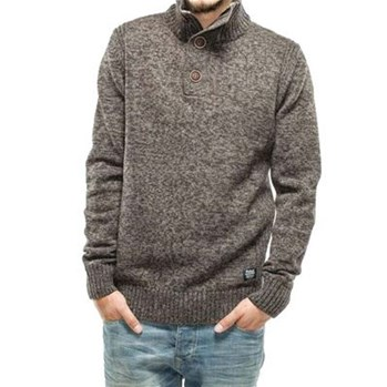 Petrol Industries - Knit stand up collar - Pull - gris
