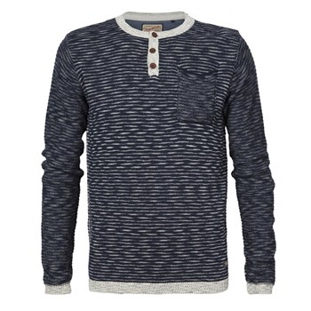 Petrol Industries - Knitwear r-neck - T-shirt manches longues - bleu marine