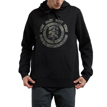 Element - Bark logo hood - Sweat à capuche - noir