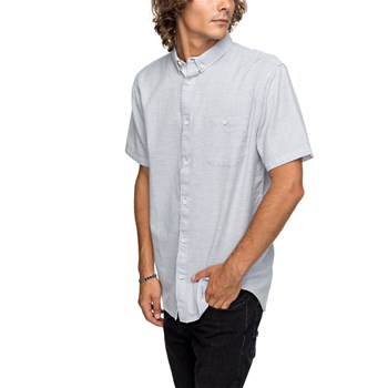 Quiksilver - Waterfalls update - Chemise manches courtes - bleu