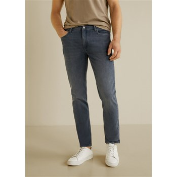 Mango Man - Jan - Jean slim-fit délavé - gris