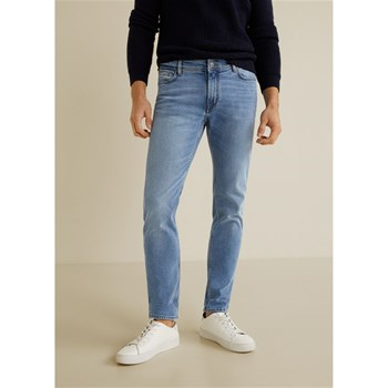 Mango Man - Jan - Jean slim-fit délavé - bleu jean