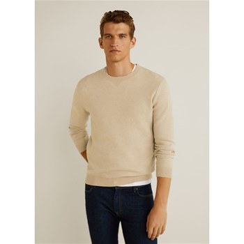 Mango Man - Pull-over combiné - beige