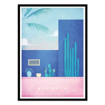 Wall Editions - Illustration Voyage - Visit Morocco - Affiche art 50x70 cm