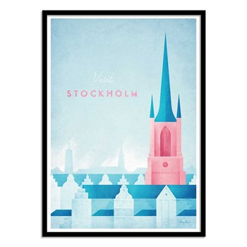 Wall Editions - Visit Stockholm - Affiches - bleu