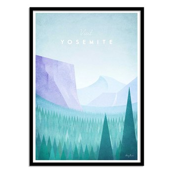 Wall Editions - Illustration Voyage - Visit Yosemite - Affiche 50 x 70 cm
