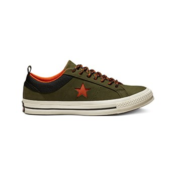 Converse - One star ox - Ledersneakers - grün