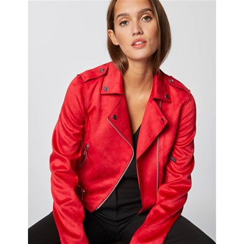 VESTE BIKER - ROUGE Morgan